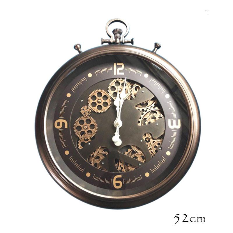 "Horloge design "" Chrono bronze "" à engrenages"