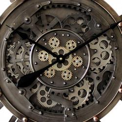 """Horloge industrielle """" ROUAGES """",à engrenages, 90cm"""