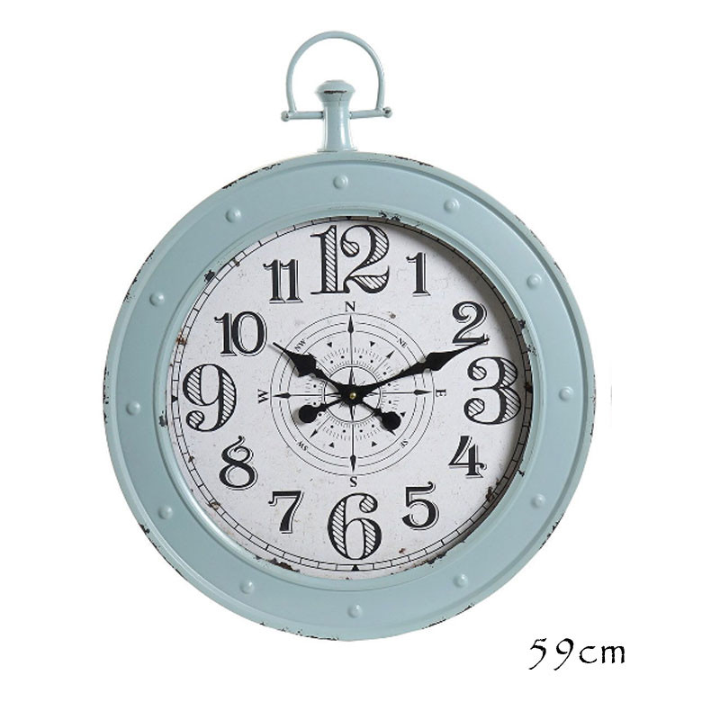 "Horloge design "" Boussole "",60cm,bleu"