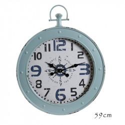 """Horloge design """" Boussole """",60cm, turquoise"""