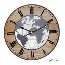 """Horloge design """" Mappemonde..."""