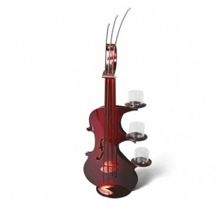 Bougeoir VIOLON rouge