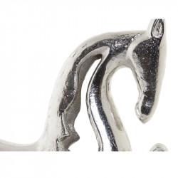 """ Cheval argenté "" ,statuette design aluminium"