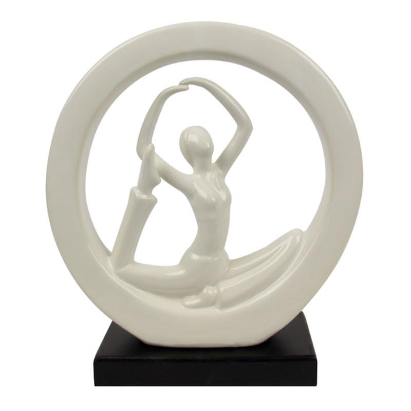 """"""" Femme yoga """", statuette décorative design"""