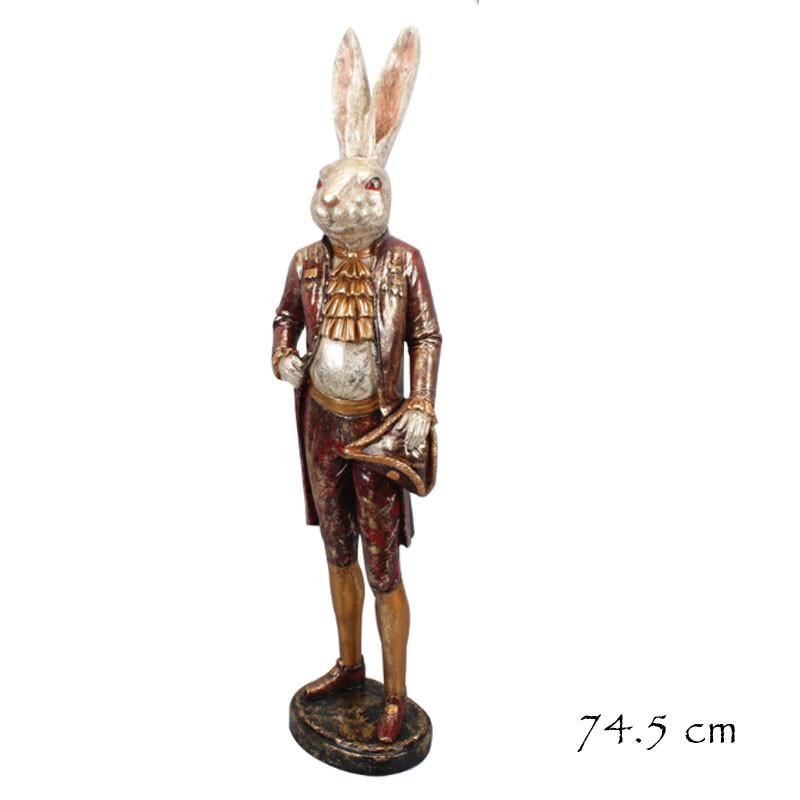 """"""" Lapin gentilhomme """", Statuette design rétro"""