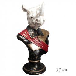 """""""Buste Rhinocéros Napoléon """", statue design"""