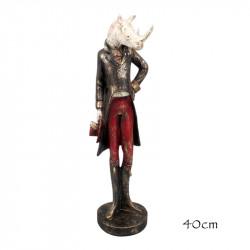 """ Rhinocéros Dandy "", statuette design"