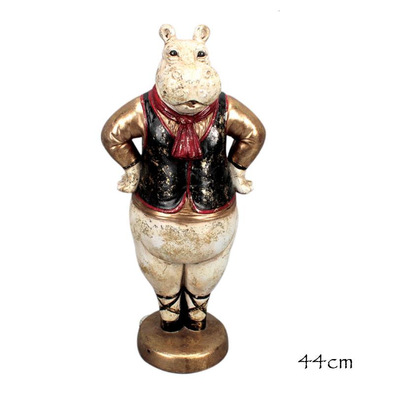 """ Hippopotame basque "", statuette, figurine design"