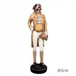 """"""" Chien gentilhomme """", statue déco design"""