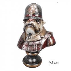 """"""" Bouledogue policier """", statuette design vintage"""