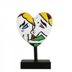 """"""" Le baiser, MISSIVE HEART """", statue design Déesse"""