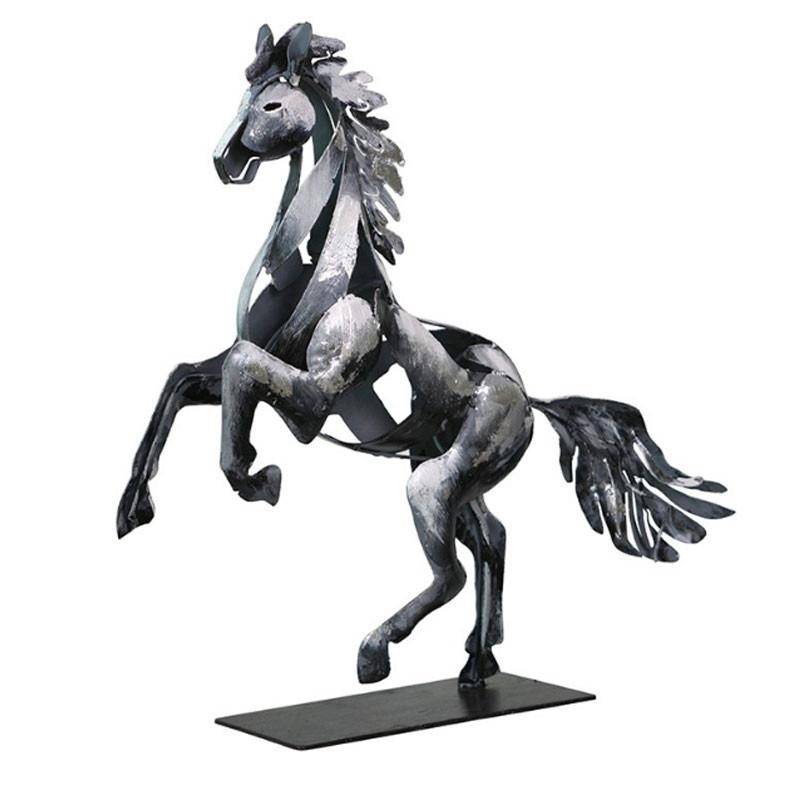 """""""Cheval cabré argent"""",sculpture design métal"""