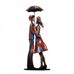""""""" Amoureux sous le parapluie """",sculpture design métal """"pigment"""""""