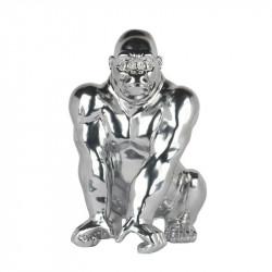 """ Gorille assis argent "",..."