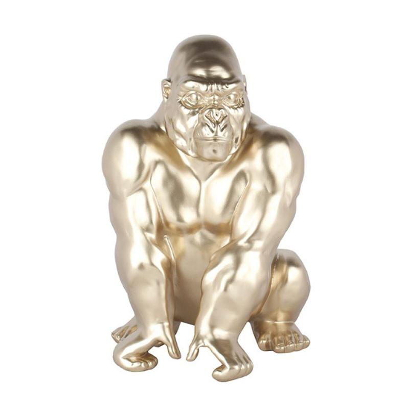 """ Gorille assis champagne "", sculpture, statue design"