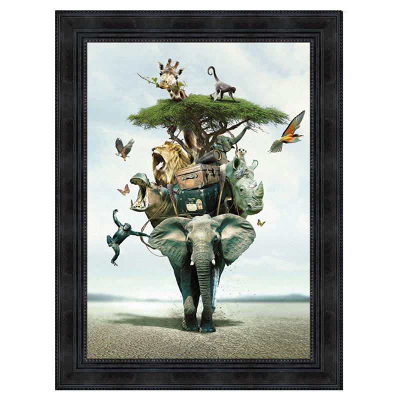 """ SAVANE "", de Sylvain BINET, tableau contemporain 50x70"