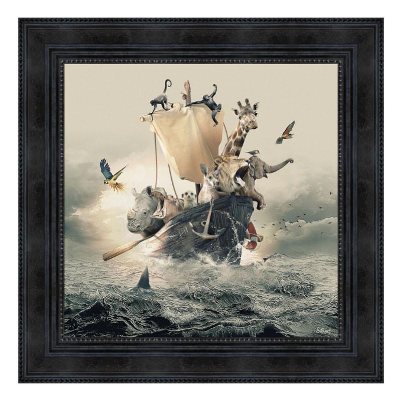""""""" L'arche """", de Sylvain BINET, tableau design 40x40"""