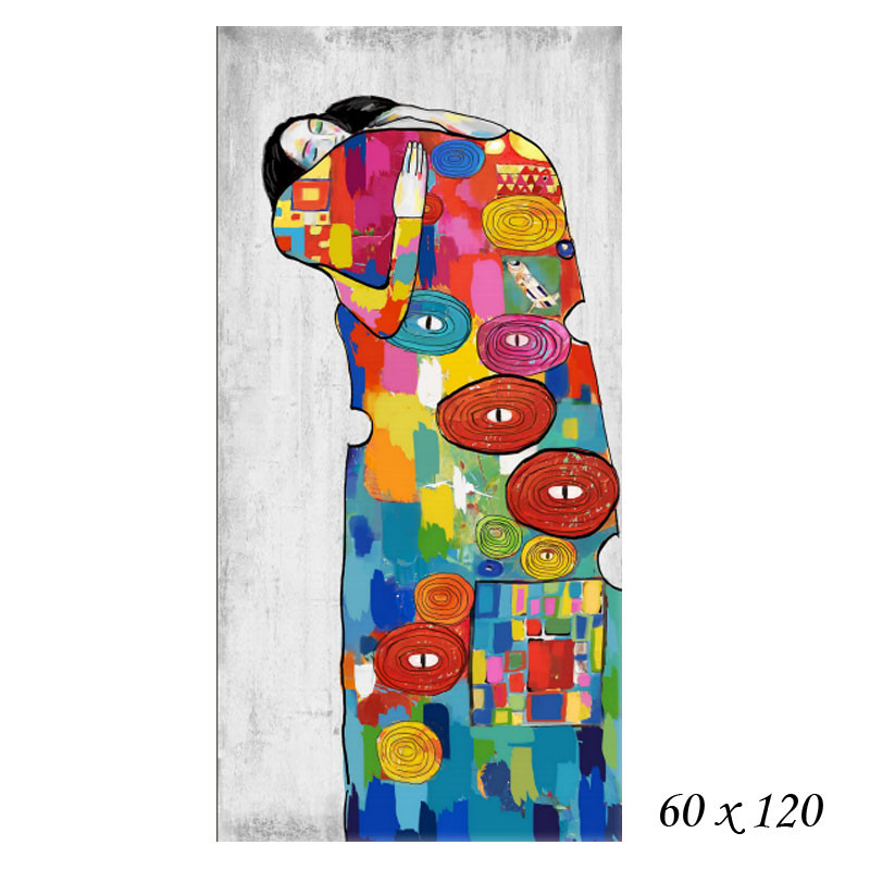 """"""" Le baiser, Klimt, Façon Pop ART """", tableau contemporain design"""