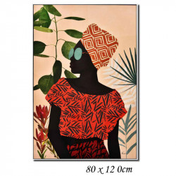 """Femme africaine mode "", Tableau contemporain design"