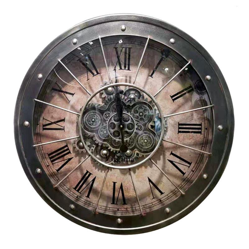 """Horloge murale design """" Rétro vintage """", engrenages"""