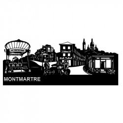 """"""" MONTMARTRE """", Skyline, décoration murale métal découpé"""