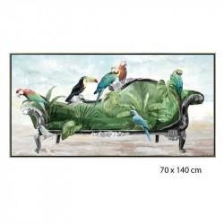 """"""" Méridienne tropicale """", Tableau contemporain tropicale,70x140 cm"""