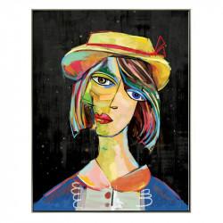 """"""" Visage femme style Picasso"""", Tableau design cubisme,"""