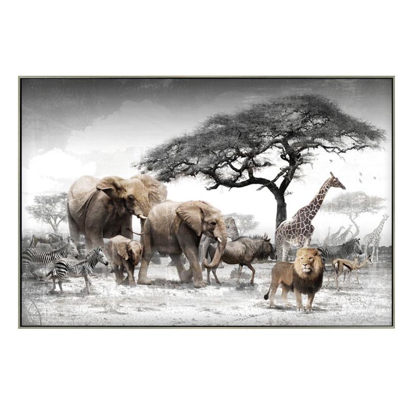 """"""" La Savane """", tableau contemporain tropicale,80x120cm"""