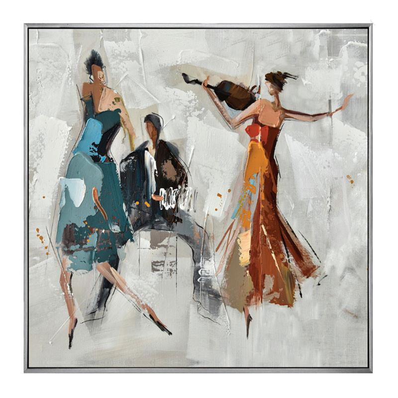 """""""Soirée dansante"""", Tableau contemporain musique"""