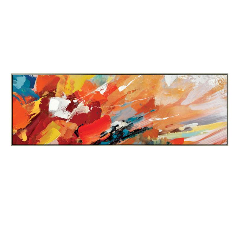 """"""" Irruption de couleurs """", Tableau design abstrait,50x150 cm"""
