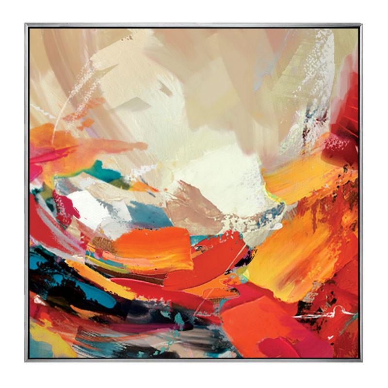 """""""Vague de couleurs 2"""", Tableau contemporain abstrait, 80x80 cm"""