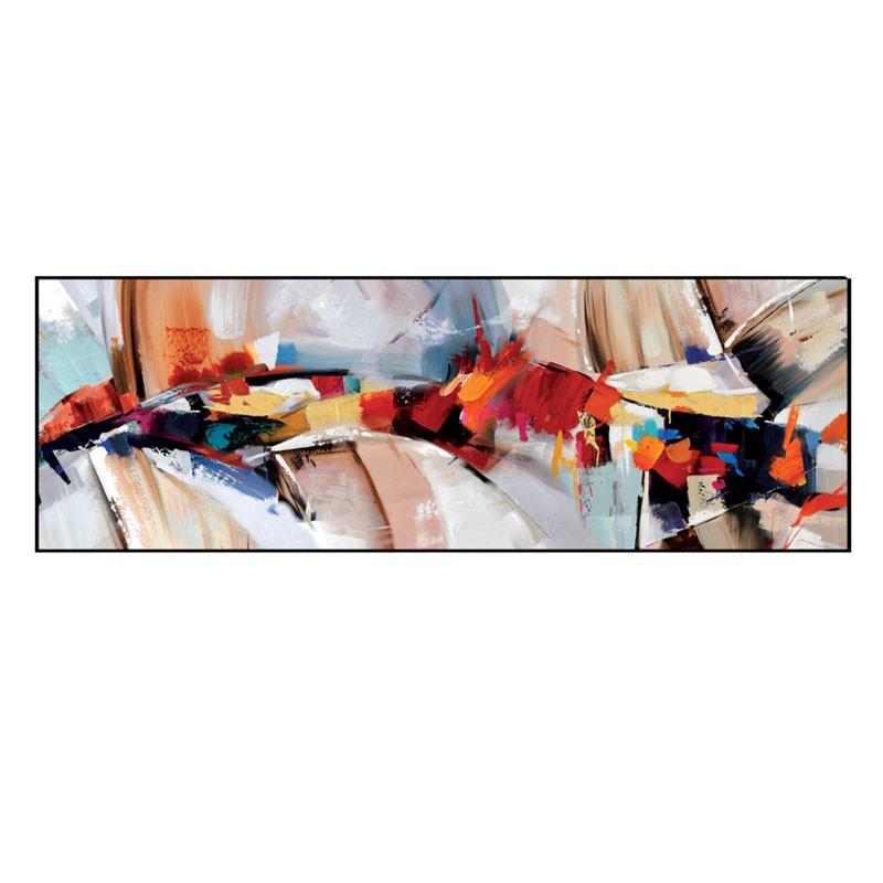 """"""" Déferlement de couleurs """", tableau contemporain abstrait,50x150"""
