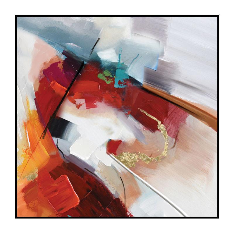 """""""Jeu de couleurs """", Tableau contemporain abstrait,60x60"""