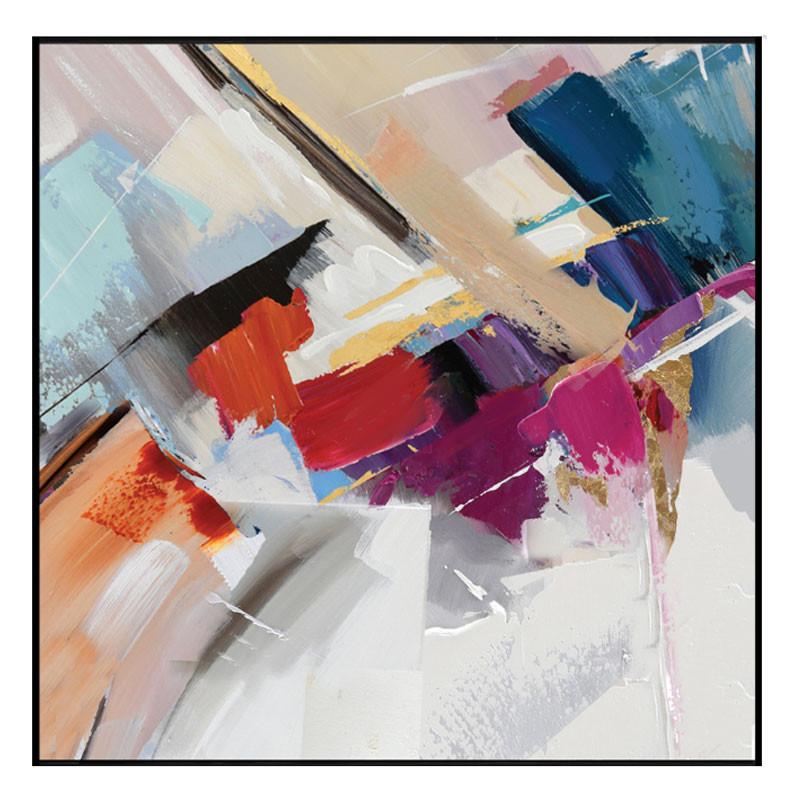 """""""Jeu de couleurs 2"""", tableau contemporain abstrait,80x80 cm"""