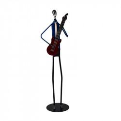 """"""" Le guitariste """", statuette déco métal"""