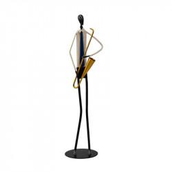 """""""Le saxophoniste"""" , statuette design métal à poser"""