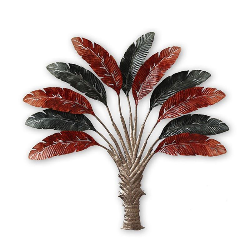 """""""Arbre jungle"""", décoration murale métal tropicale"""