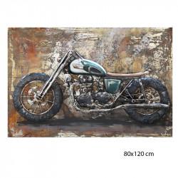 """"""" Moto US, Road trip"""", Tableau métal vintage 3D, 80x120 cm"""