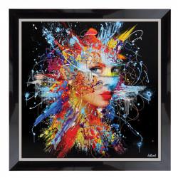 """"""" Femme et explosion de couleurs"""", Tableau design SYLVAIN BINET"""