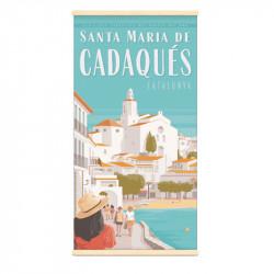 """Cadaquès"", Kakémono Travel poster vintage"