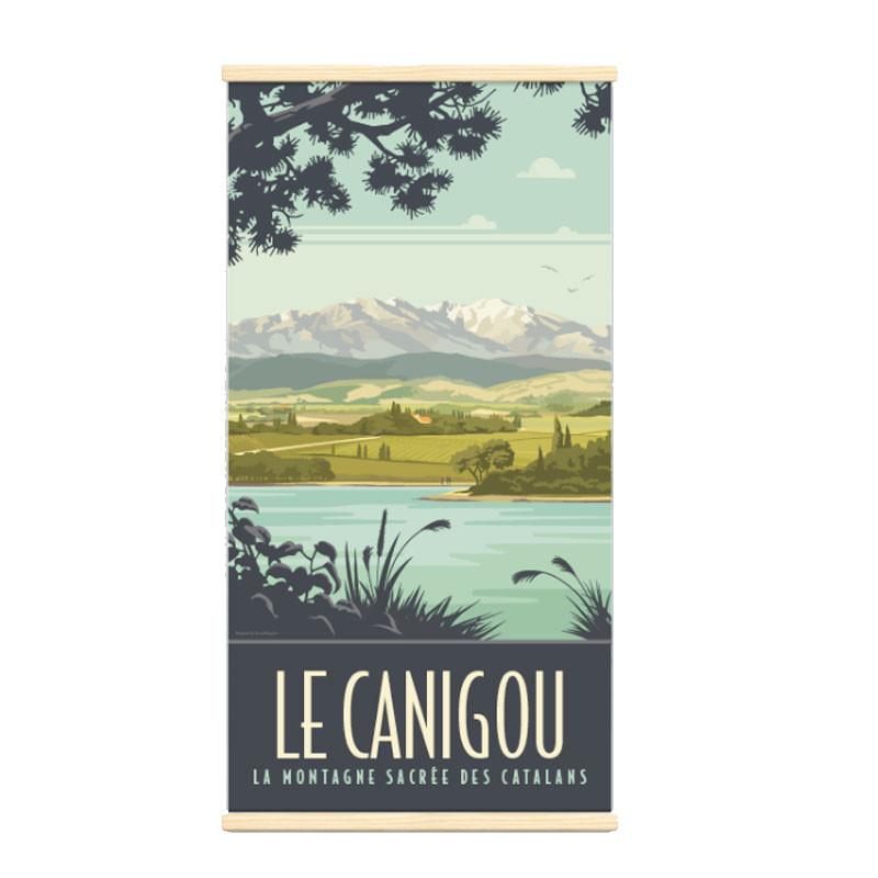 """""""Le Canigou"""", Kakémono Travel poster vintage"""