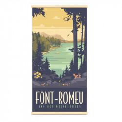 """Lac des bouillouses, Font-Romeu"", Kakémono Travel poster vintage"