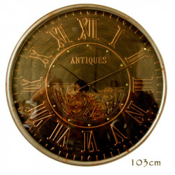 "Horloge design géante "" ANTIQUES "",à engrenages 103 cm"