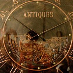 """Horloge design géante """" ANTIQUES """",à engrenages 103 cm"""