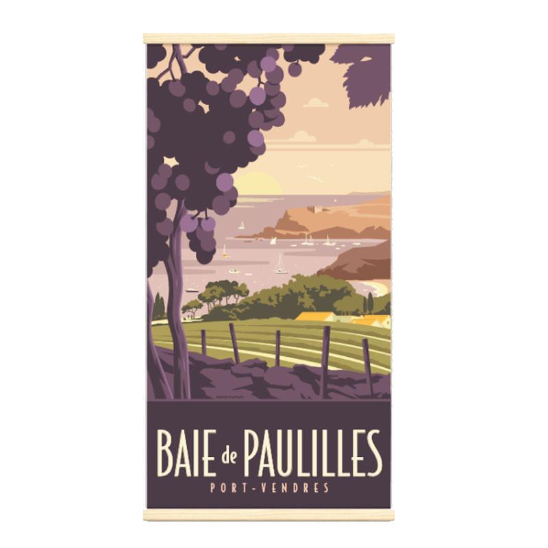 """""""Baie de Paulilles, Kakémono Travel poster vintage"""