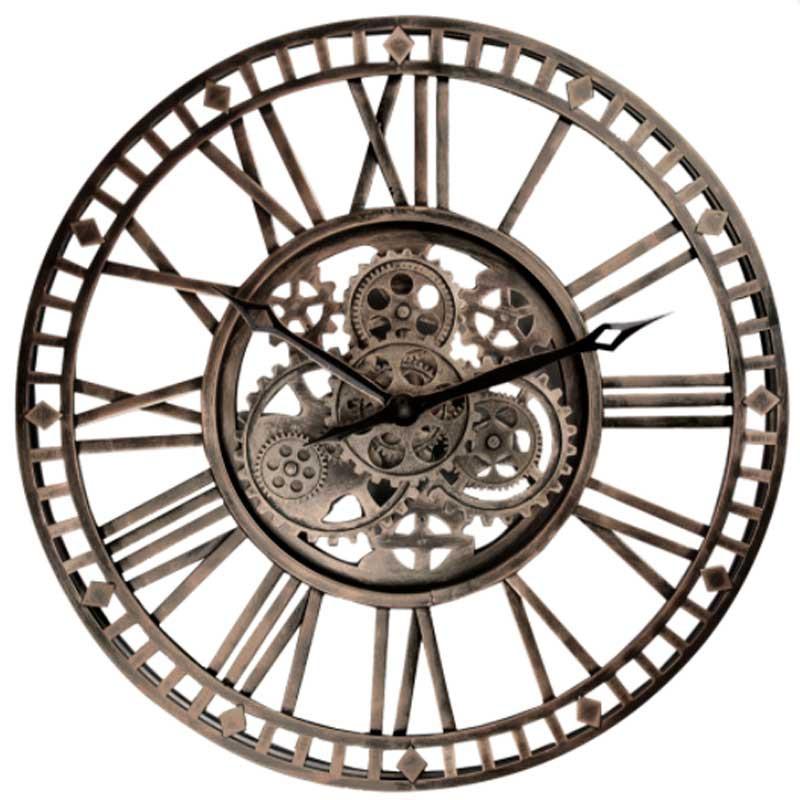 """Horloge industrielle """" ROUAGES """",à engrenages, 60cm"""