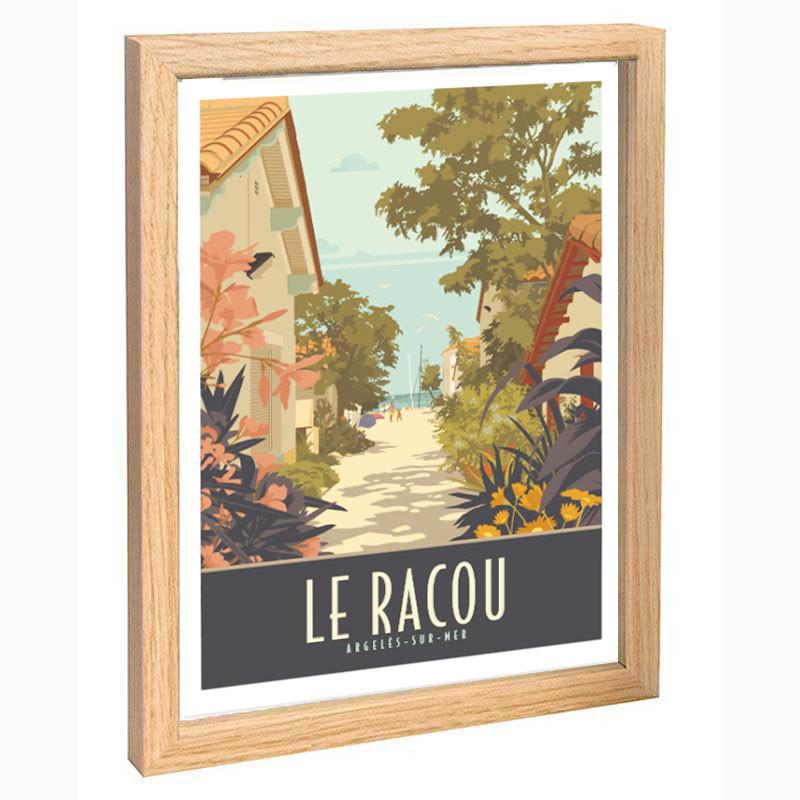 """ Le Racou"", Travel poster vintage 30x40"