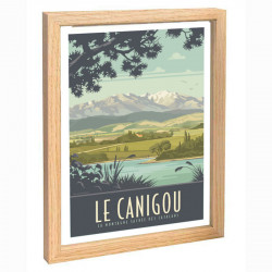 """Le Canigou"", Travel poster..."