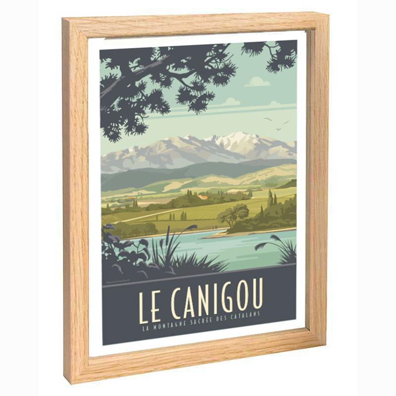 """""""Le Canigou"""", Travel poster vintage 30x40"""