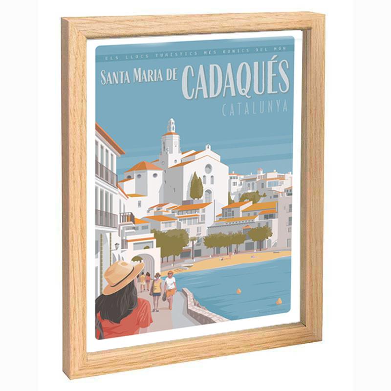 """Cadaquès"", Travel poster vintage, 30x40"